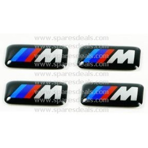 36112228660 original bmw m sport wheel emblem badge set sticker decal 4 pieces