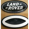 DAH500330+DAG500160 - Range Rover Evoque Black & Silver 3.5 Inch Emblem Badge Pair Supercharged